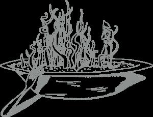 Illustrazione stile fantasy di un piatto inspirato a Moebius