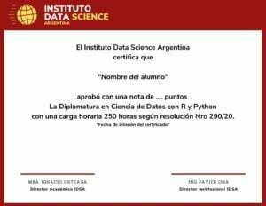 Certificado IDSA Ciencia de Datos con R y Python