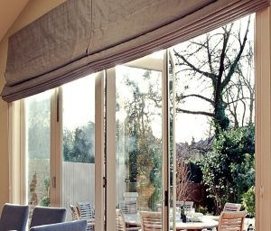 Made to Measure Large Roman Blinds - Material Concepts Battersea