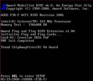 Acceder a BIOS