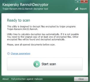 Screenshot con il Tool di rimozione Trojan