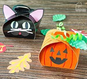 DIY Halloween treat boxes