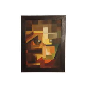 """Tableau """"Portrait"""" Huile sur Toile, 1950s"""