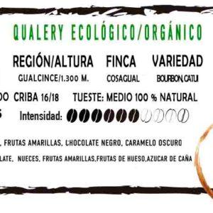 Etiqueta Café Ecológico/Orgánico en grano Qualery