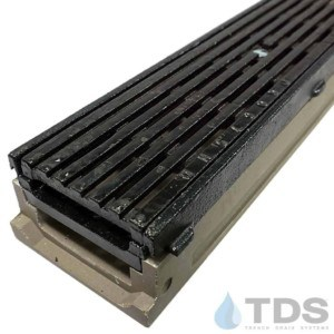 POLY500-AA-675D-TDSdrains cast iron frame cast iron transverse ada slotted grate shallow polymer concrete channel Polycast