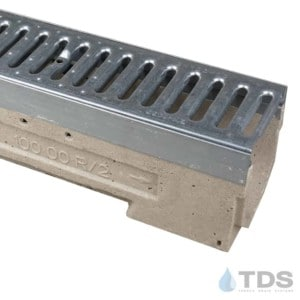 U100K ULMA galvanized edge channel with reinforced galvanized steel slotted grate