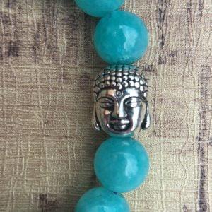 collar de piedras azules