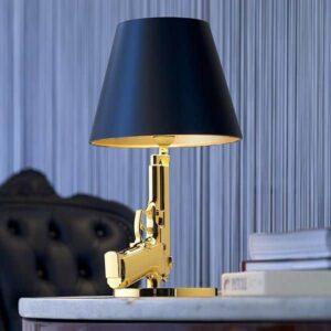 Flos bedside gun led bordlampe guld Elministeren