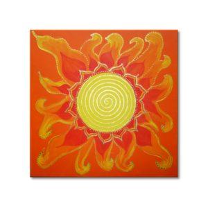 Spirale Energiebild Sonnengeflecht