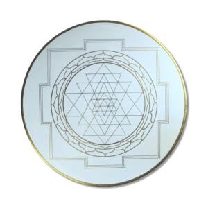 Wandbild Energiebild Yantra für Erfolg Sri Yantra Gold_Frontalbild
