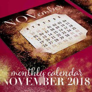Printable November 2018 Calendar