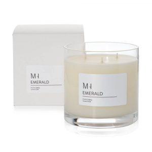 luxury emerald candle