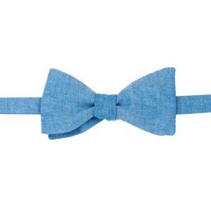 noeud papillon chambray bleu navy
