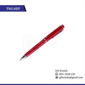 PM18BP Pulpen Promosi Merah Print Logo