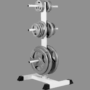Vektskive Rack – Hvit / Sort