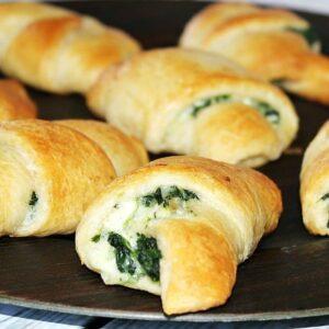 Spinach artichoke crescent rolls