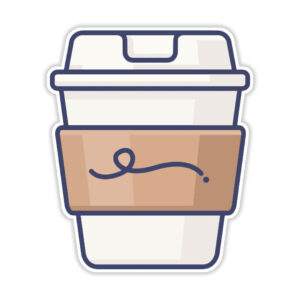 استیکر لپ تاپ – قهوه بزن!