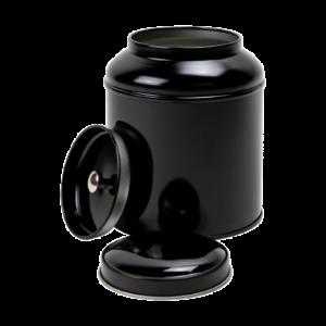 Theeblik rond 100 gram zwart