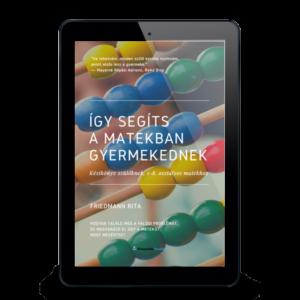 Matek könyv szülőknek Így segíts a matekban gyermekednek csak e-book borító