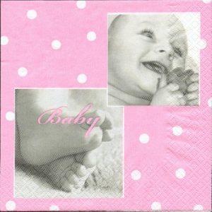 Serviette papier naissance fille