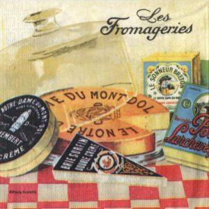 Serviettes papier les fromages 33 cm x33 cm 3 plis