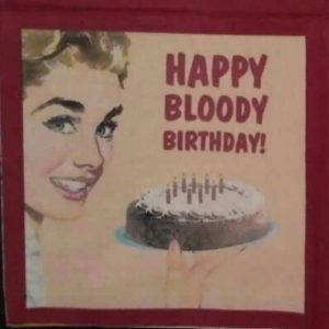 Serviette papier Happy Bloody Birthday
