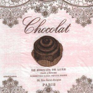 Serviette papier chocolat