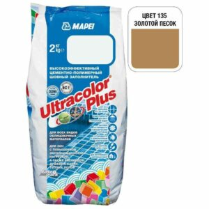 "Золотистый песок затирка Mapei ""Ultracolor Plus"" (135)"