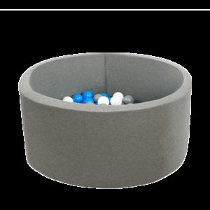 Bällebad Smart - Klein-Rund, Grau