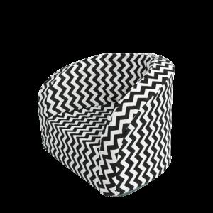 Sitz – Smart, Schwarz-Weisser Zigzag