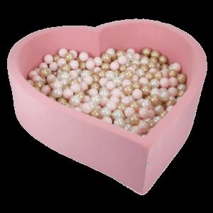 trockener herzförmiger Pool - pink
