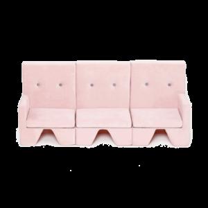 Rosa Premium-Sofa für Kinder