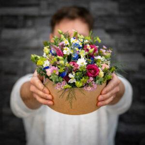Hravá květinová krabička