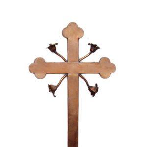 krzyż z miedzi