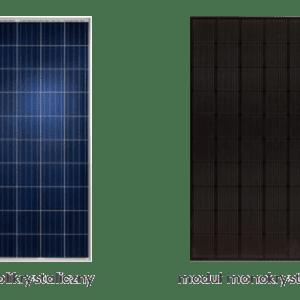panele fotowoltaiczne: monokrystaliczne, polikrystaliczne