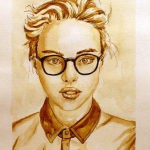 Кофейный портрет Ольга