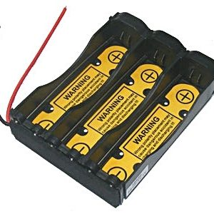 "Battery Holder: Li-Ion 18650 Battery Holder (3S1P) With 2.6"" long 20AWG & PCB-0"