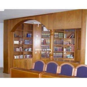 ספריית בית הכנסת רמות אשר, ירושלים-קשת רהיטי עץ ומתכת