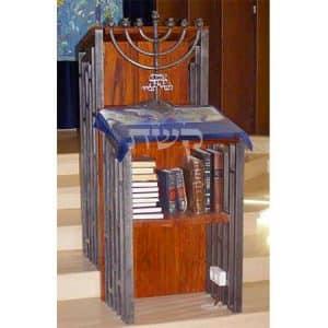 עמוד חזן בבית הכנסת בעפרה- קשת רהיטים