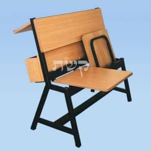 ספסל בית כנסת עם מושבים מתקפלים + מדף וארגז- קשת
