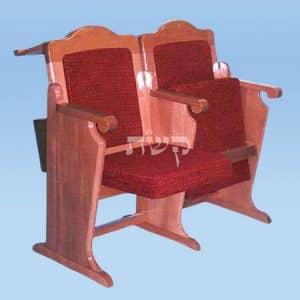 כסא בית כנסת - דגם 107- קשת רהיטי עץ ומתכת