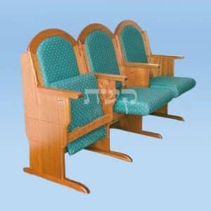 כסא בית כנסת- דגם 113- קשת רהיטי עץ ומתכת