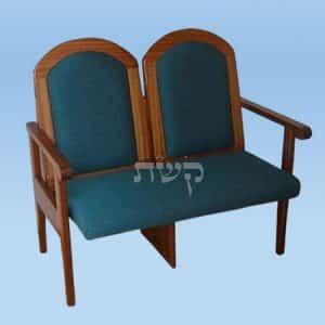 כסא בית כנסת- דגם 118- קשת רהיטי עץ ומתכת