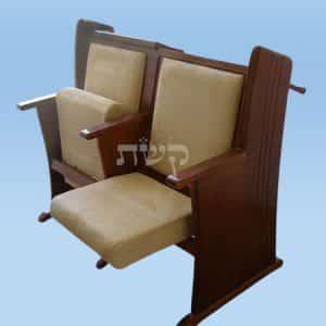 כסא בית כנסת- דגם 119- קשת רהיטי עץ ומתכת