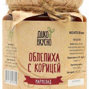 Мармелад Облепиха с корицей.  «Дико вкусно» 200 мл.