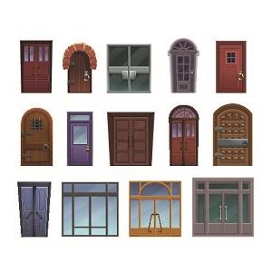 unterschiedliche Eingangstüren, Türenauswahl, Türen Vergleich