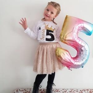Verjaardagsshirt 5 jaar met naam