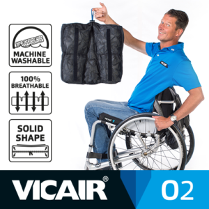 Vicair O2 wheelchair cushion machine washable