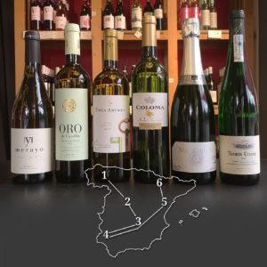 Probierpaket: 6 spanische Weißweine