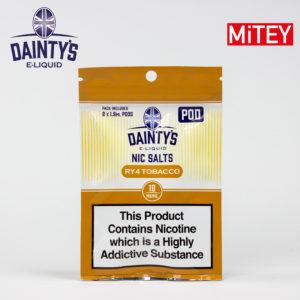 Dainty's Nic Salts Mitey Pod Ry4 Tobacco